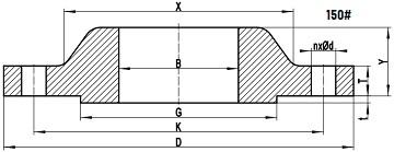 ASME B16.5 SORF 150LB