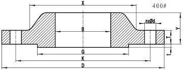 ASME B16.5 SORF 400LB