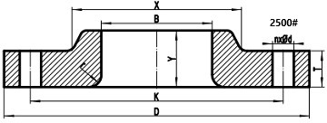 2500LB lap joint flange drawing