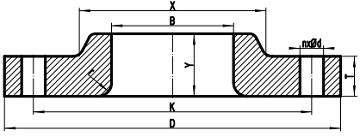 Lap joint flange drawing