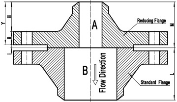 Reducing flange joint