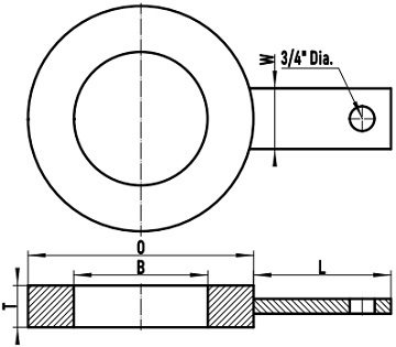 ASME B16.48 FF ring spacer