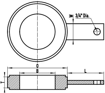 ASME B16.48 RF ring spacer