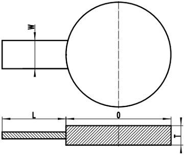 ASME B16.48 FF spade blank