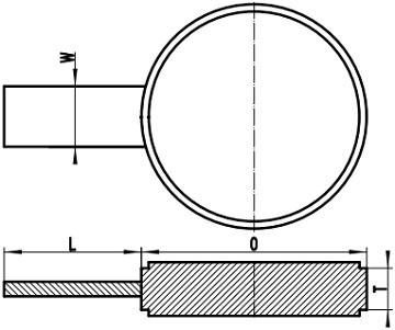 ASME B16.48 RF spade blank