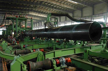 Fabrication of ASTM A134 spiral-welded steel pipes