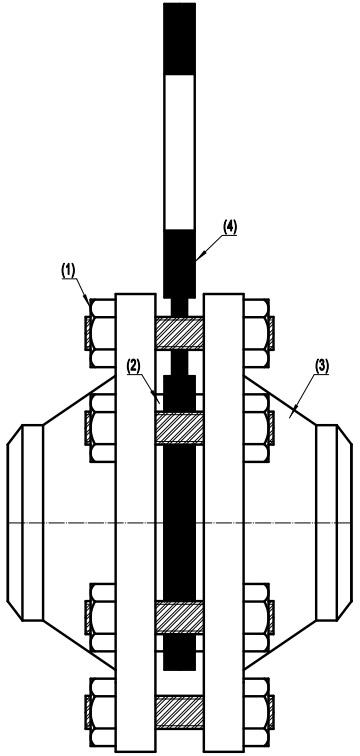 Figure-8 blank assembly