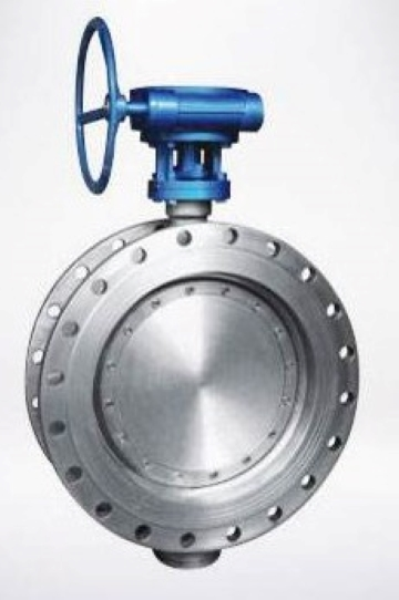 A typical butterfly valve