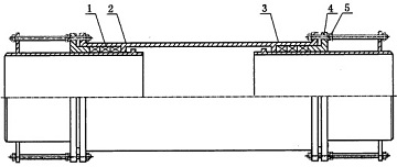 Drawing of double slip expansion joint