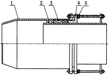 Drawing of single slip expansion joint