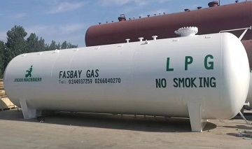 A cylindrical LPG tank made of A537 Cl.2