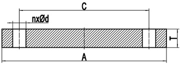 Drawing of AWWA C207 Cl. F blind