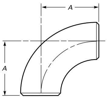 Drawing of S/R elbows