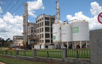A cane sugar mill in Brazil