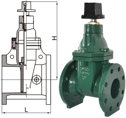 AWWA C509 non-rising stem gate valve