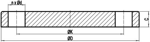Drawing of EN 1092-1 Type 05 BL