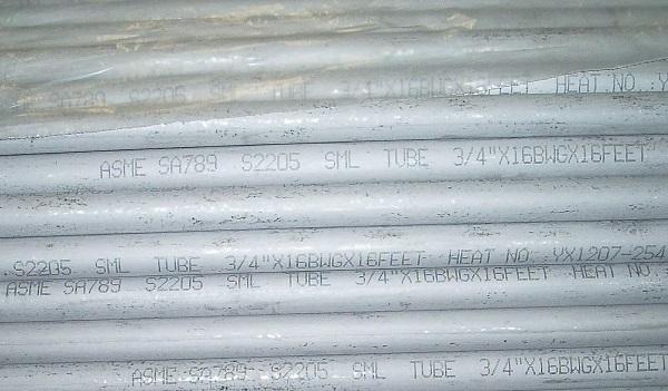 2205 tubing (ASTM A789)
