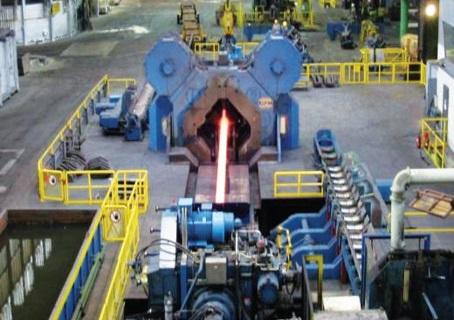 Radial forging mill