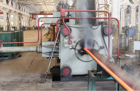 Ti smls tubing hot extrusion mill